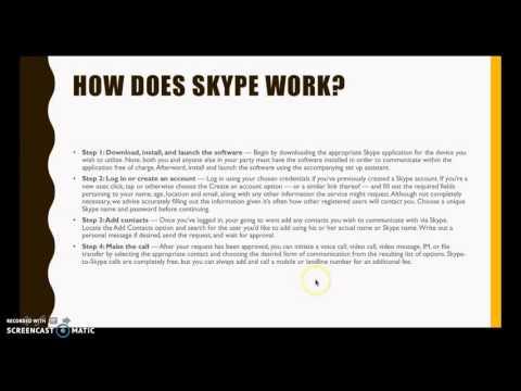 New technologies video tutorial - Skype