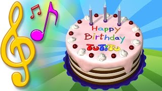 Canciones para niños en ingles con TuTiTu | Torta de cumpleaños | aprender inglés para niños y bebés