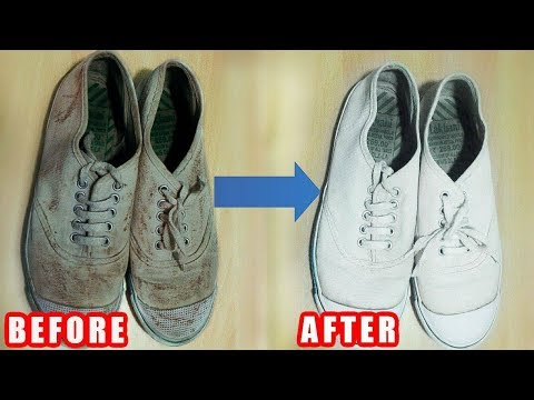 How to Clean White Vans That Turned Yellow or Dirty EASILY at Home