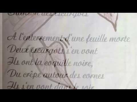 Chanson des escargot, Jacques Prévert