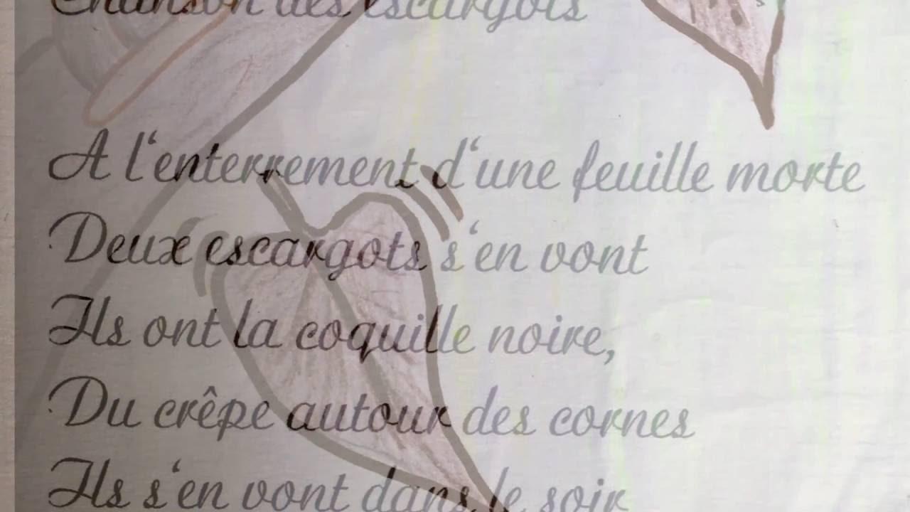 Chanson Des Escargot Jacques Prévert