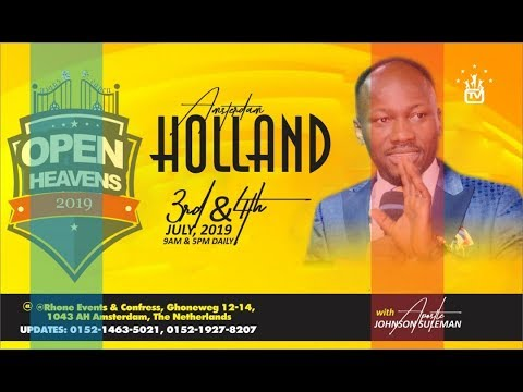 AMSTERDAM, THE NETHERLANDS Day 1 Morning with Apostle Johnson Suleman