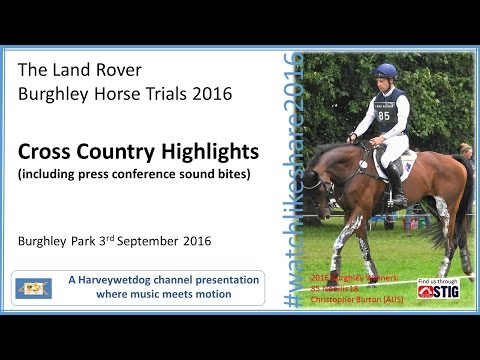 Land Rover Burghley Horse Trials 2016: Cross Country Action