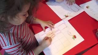 Урок чтения и письма. Дети 3-3,5 лет. Бостон, США