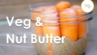 Fall Recipes: Carrots & Almond Butter | Quick Healthy Snack Idea | Healthy Grocery Girl