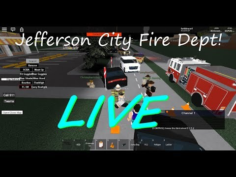 Jefferson City Fire Dept RolePLay [Roblox Live Stream] 400 Subs!!!