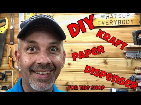 Kraft Paper Roll Dispenser - DIY