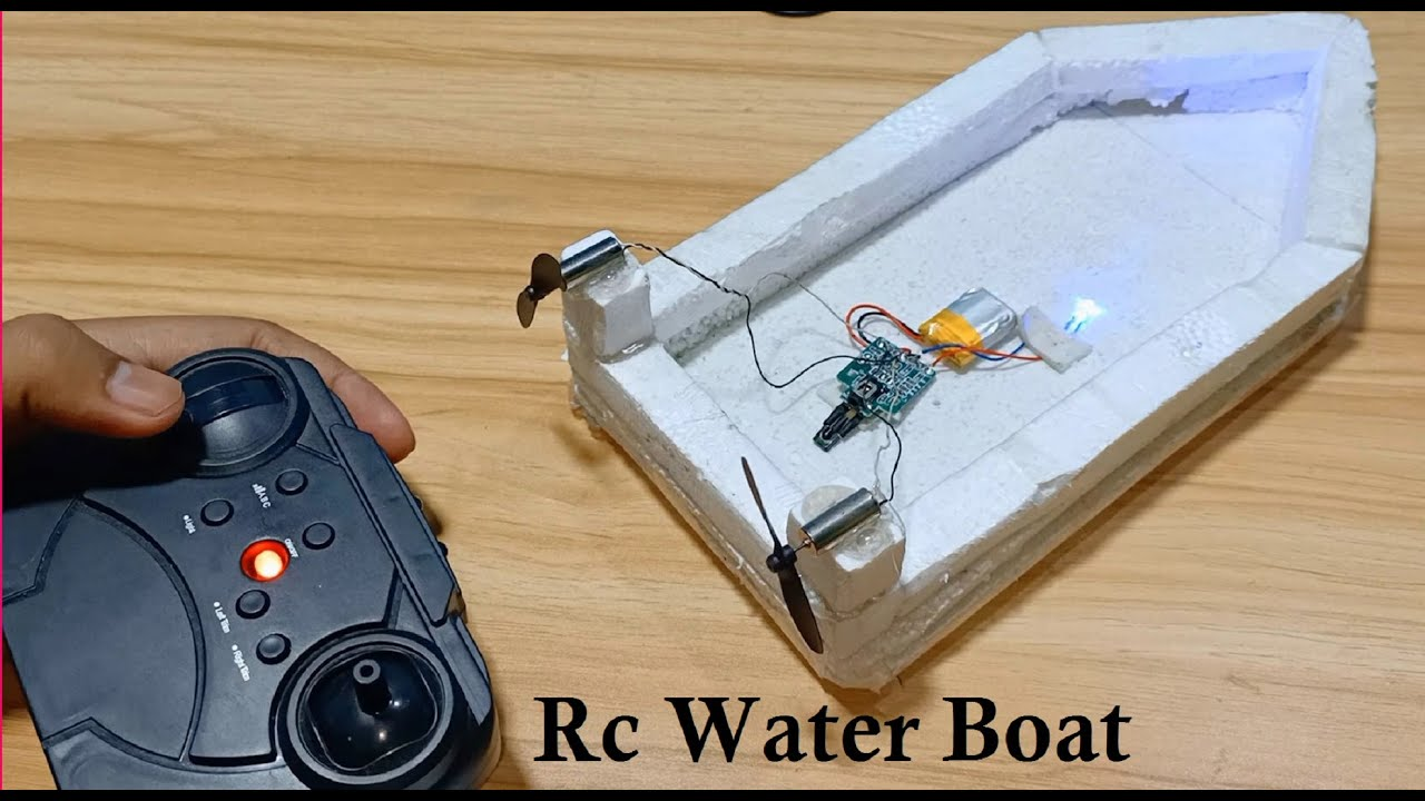 How to Make Rc Water Boat at home using foam sheet