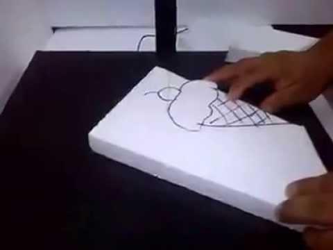 Cortadora unicel para manualidades youtube - Manualidades relojes de pared ...