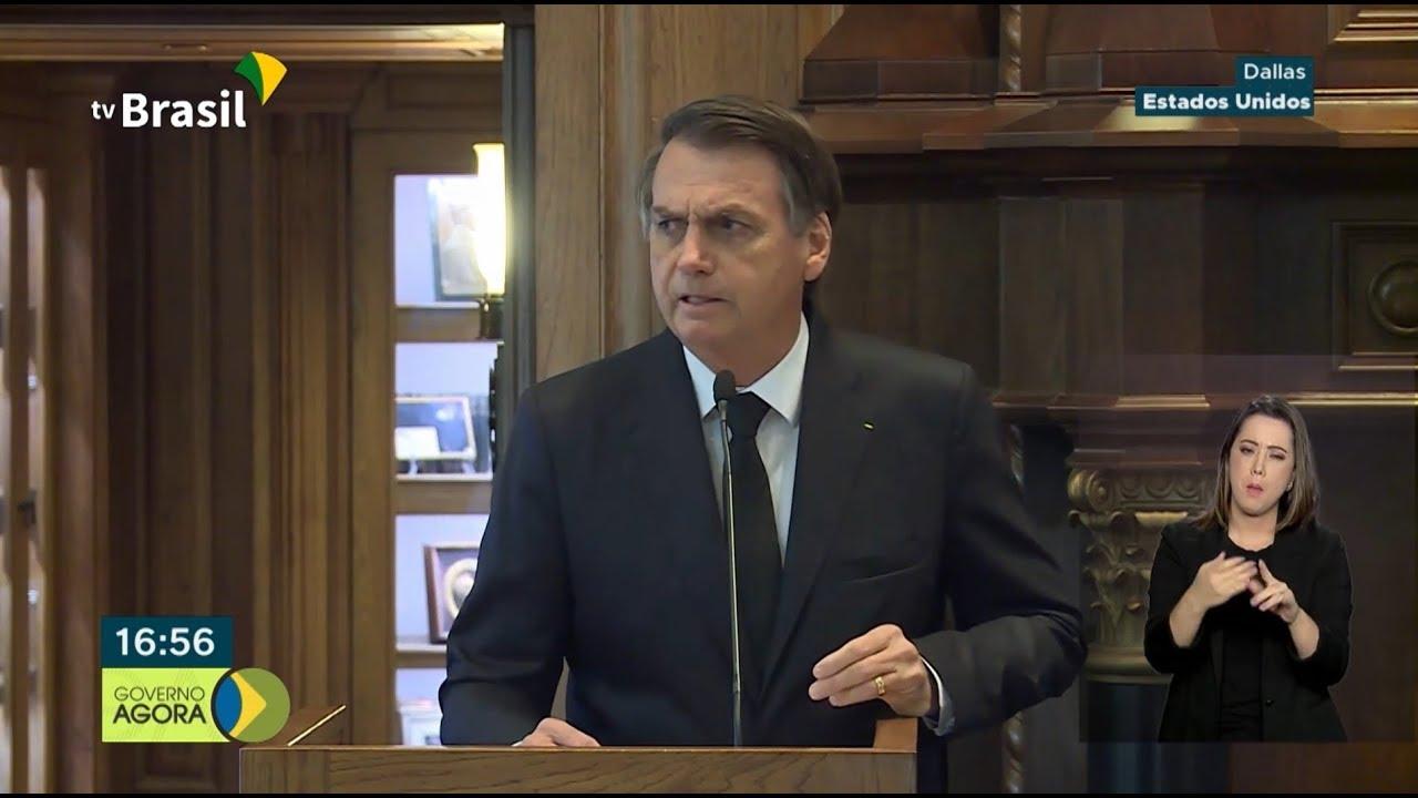 Presidente Jair Bolsonaro fala sobre a ampliação das relações entre Brasil e EUA