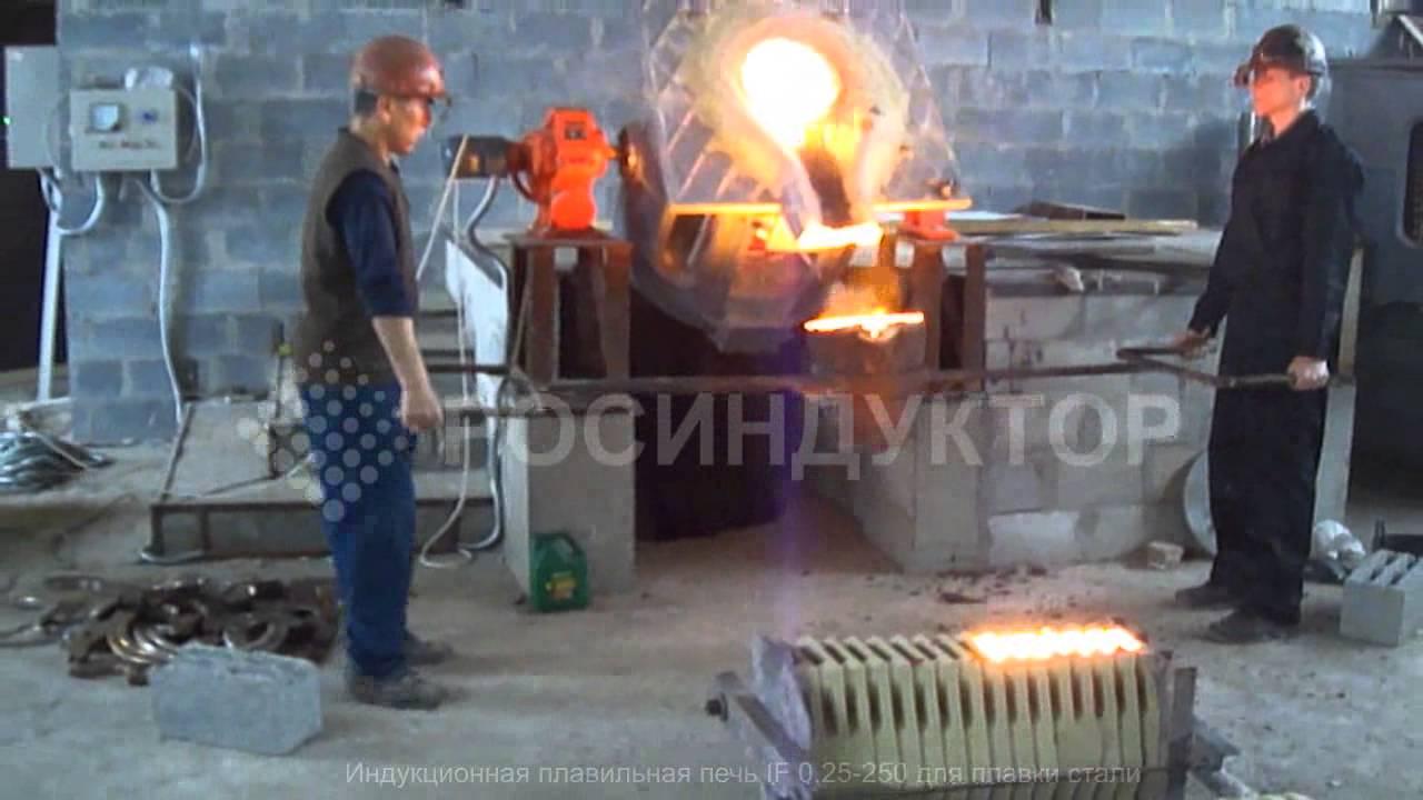 Плавильная индукционная печь ёмкостью 250 кг для плавки лома - Часть 6