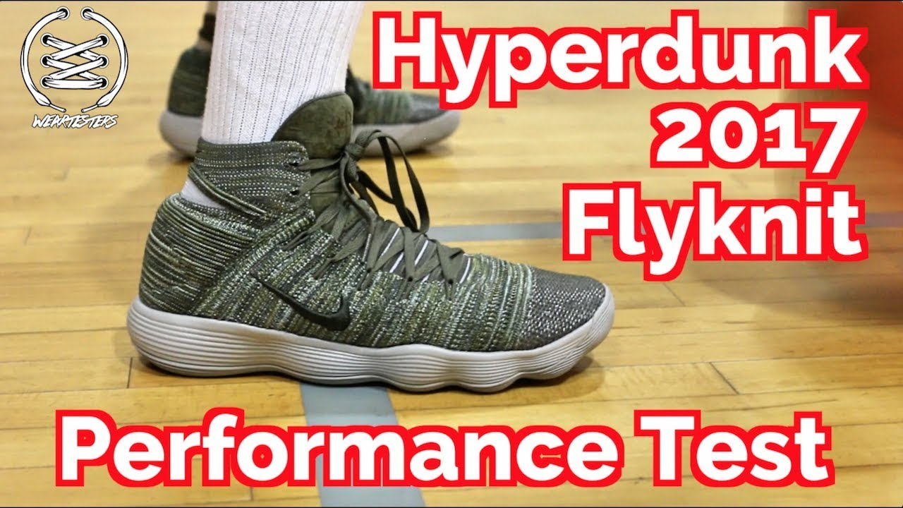 3a392b489744 NIKE REACT HYPERDUNK 2017 FLYKNIT PERFORMANCE TEST REVIEW - YouTube