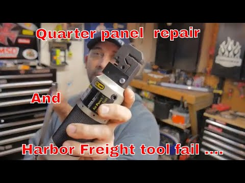 Replacing the quarter panel and a Harbor Freight Flanger update