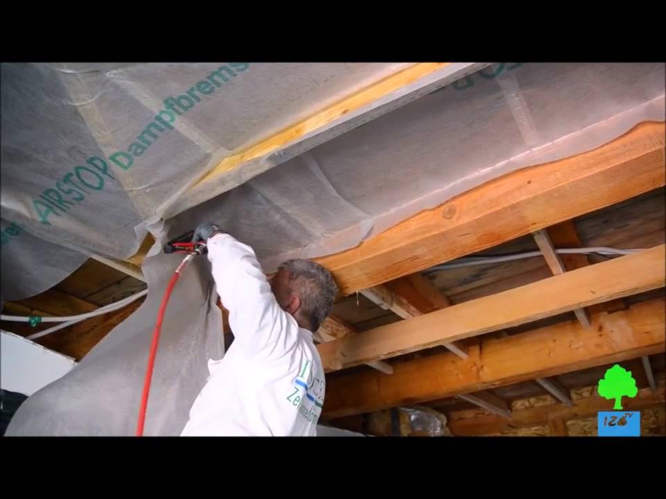 Comment installer un pare vapeur airstop isocell youtube for Mise en place pare vapeur