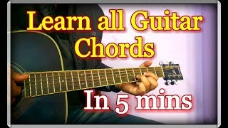 Learn All Guitar Chords in 5 minutes | Hindi Explanation
