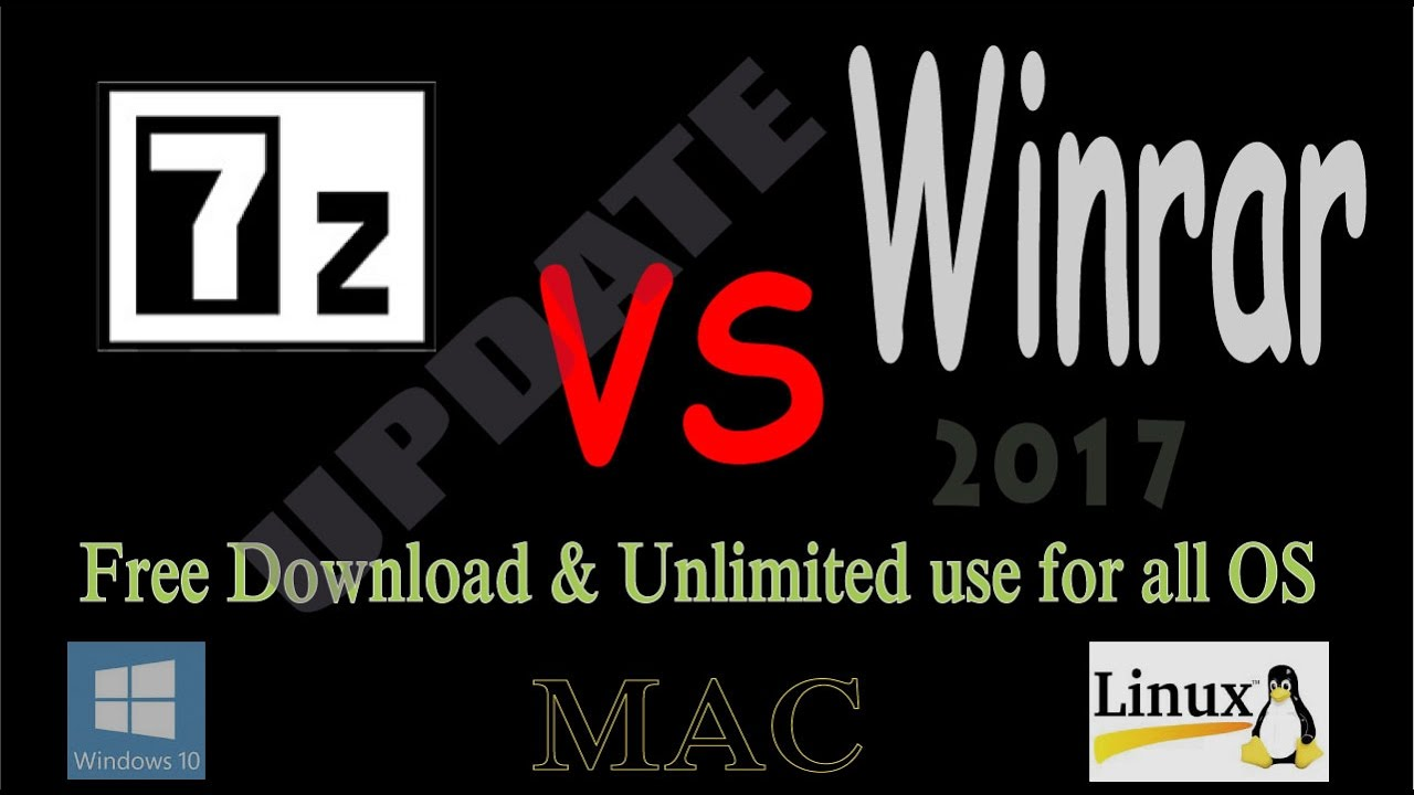 How to install 32, 64 bit winrar alternative 7zip in windows 10, 7, 8, 8 1,  xp, mac and linux