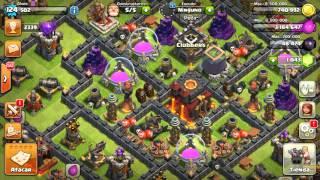 Clash of clans ataque hibrido de golems montas y brujas