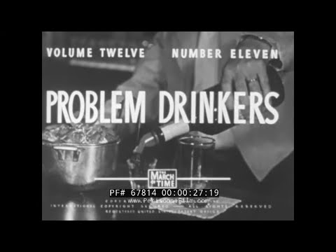 """"""" PROBLEM DRINKERS """"  1950s STUDY OF ALCOHOLISM & HISTORY OF ALCOHOLICS ANONYMOUS  DRUNKS 67814"""