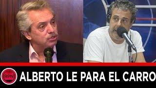 Alberto Fernández le paró el carro al obsesionado Ari Paluch por vivir hablando del pasado
