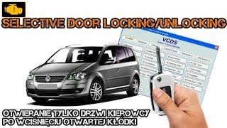 VCDS Selektive Central Locking Activation  - Otwieranie tylko drzwi kierowcy jednym kliknieciem VW