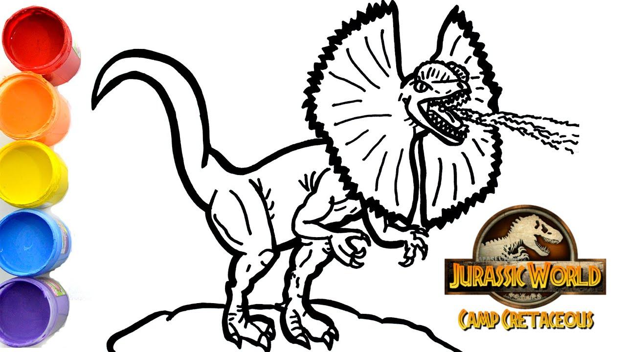 Dinosaurs For Children How To Draw Dilophosaurus Jurassic World Camp Cretaceous Youtube Enumerados son pasadores de arte hecho a mano / imanes con mi dinosaurio emblemático bosquejo ilustraciones de tarjeta! dinosaurs for children how to draw dilophosaurus jurassic world camp cretaceous