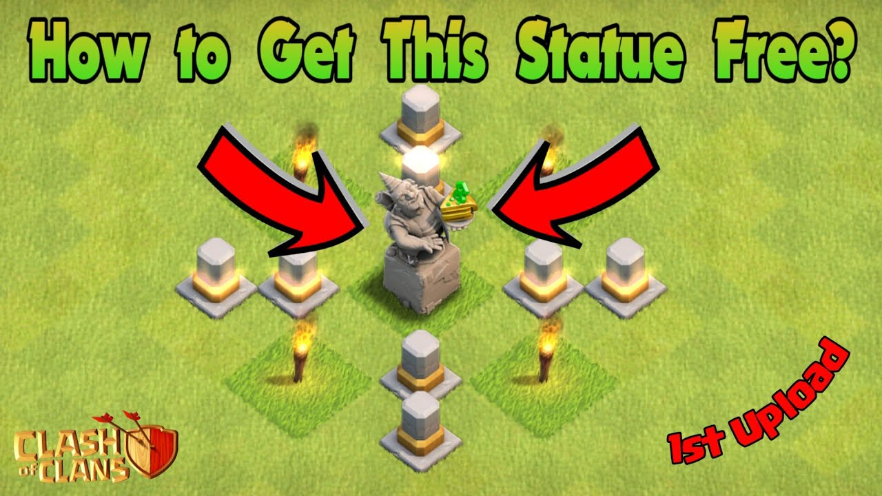How To Get A Piece Of Birthday Cake Statue Free In Clash Of Clan Clash Of Clans 2020 Youtube
