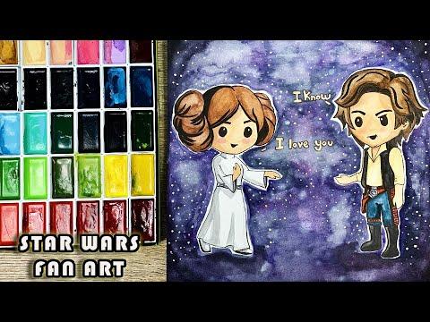 Princess Leia Han Solo Star Wars Fan Art Youtube
