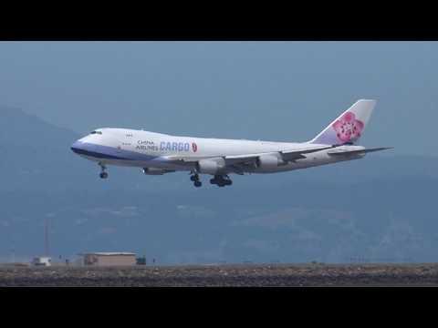 China Airlines Cargo B-18712 747-400 Landing SFO