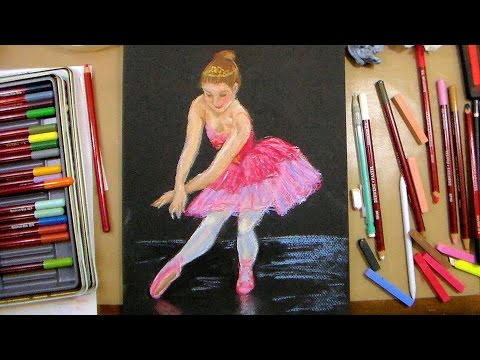 Ballet Dancer in Pastel LIVE full art tutorial!