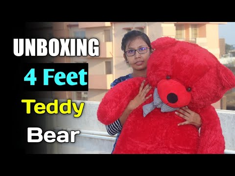 Unboxing 4 Feet Teddy Bear | Valentine Giant Teddy Bear | Best  Birthday Gift For Her