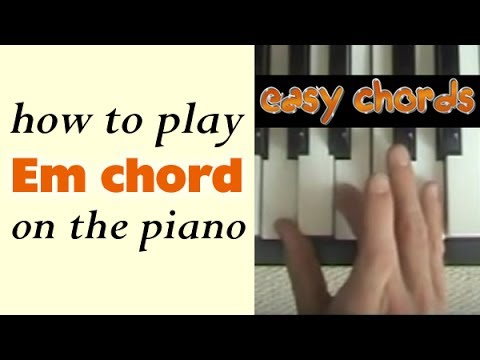 Em Piano Chord How To Play E Minor Chord On The Piano Youtube