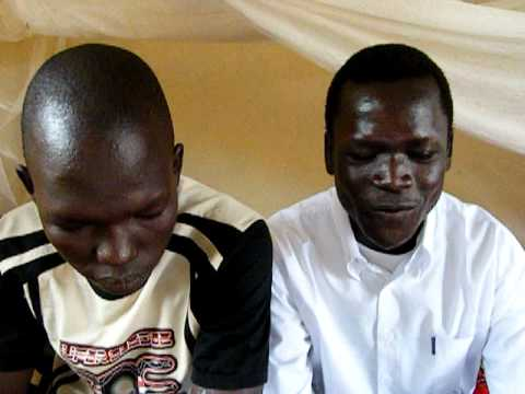 Malish and Rezig singing South Sudan's national anthem, July 2011.