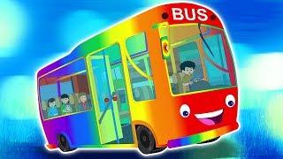 колеса на автобусе   автобусная песня для детей   детские стишки   The Wheels on the Bus   Kids Song