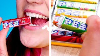 CANDY IN CLASS ! 9 Ways To Sneak Food Into Class and DIY School Pranks By Crafty Panda