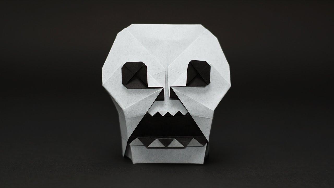 origami skull �� jo nakashima halloween � youtube