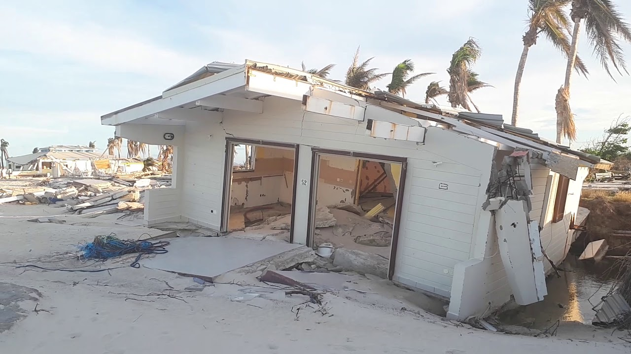 Club Orient Completely Destroyed Baie The Beach 1 Jan 2018 After Hurricane Irma St Martin