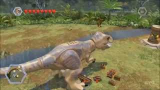 LEGO Jurassic World - All Playable Large Dinosaurs Free Roam Gameplay [HD]