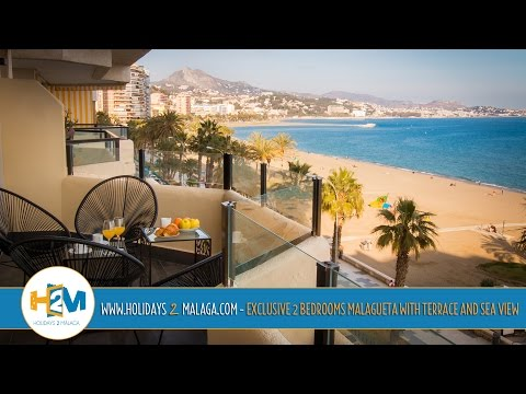 Holidays 2 Malaga - Apartment for rent Exclusive 2 bedrooms Malagueta with terrace and sea view