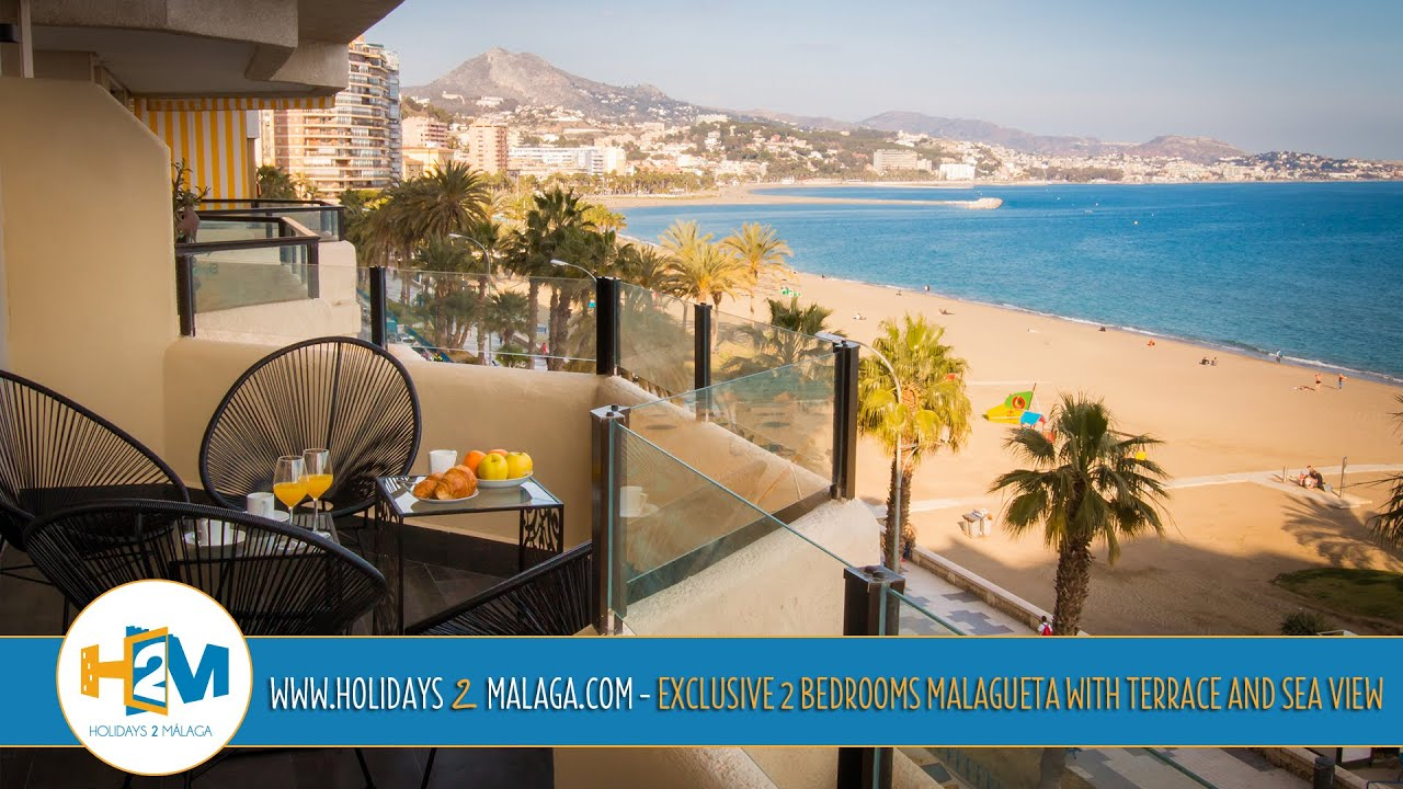 Holidays 2 Malaga   Apartment For Rent Exclusive 2 Bedrooms Malagueta With  Terrace And Sea View