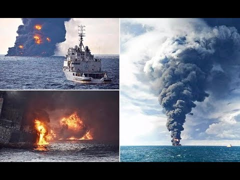 Iranian oil tanker sinks after collision off China