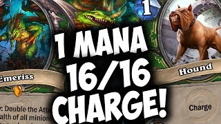 EMERISS COMBO HUNTER = 1 Mana 16/16! | THE WITCHWOOD | HEARTHSTONE | DISGUISED TOAST