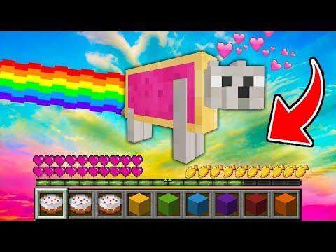 Minecraft - HOW To Play NYAN CAT In Minecraft! Animation NOOB VS PRO VS HAKER VS GOD