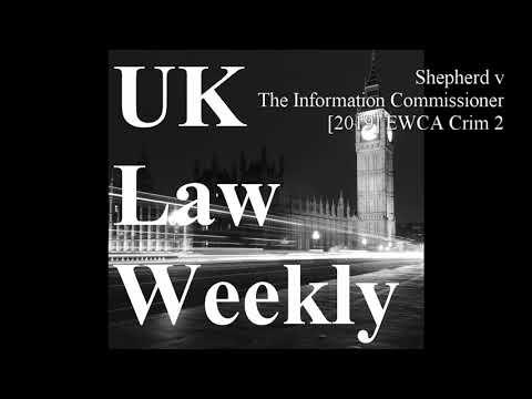 Shepherd v The Information Commissioner [2019] EWCA Crim 2