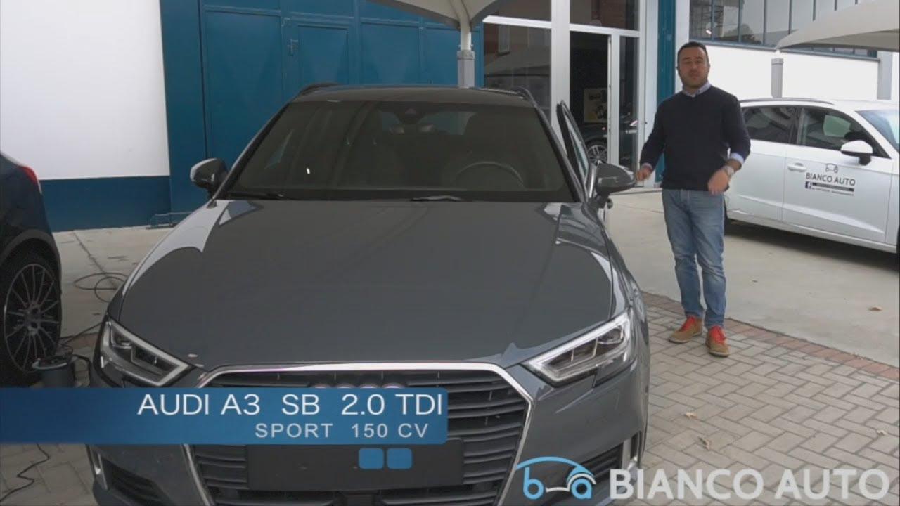 Bianco Auto Audi A3 Sportback 2 0 Tdi 150 Cv Sport Youtube