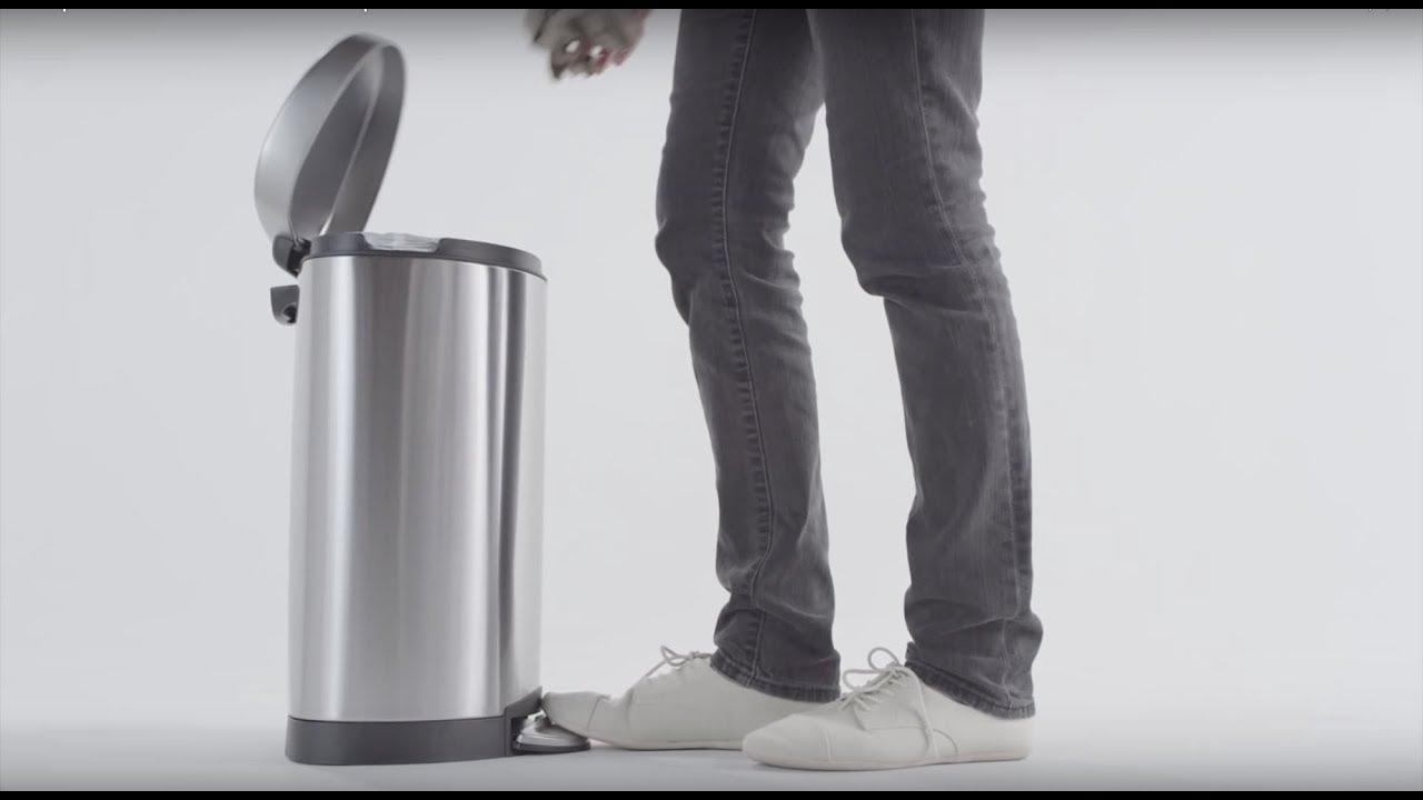 Simplehuman Semi Round Step Trash Can 10l