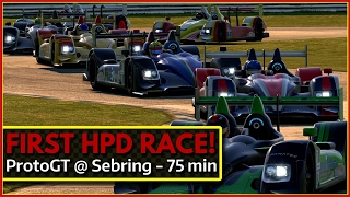 My first HPD race ProtoGT @ Sebring iRacing