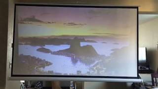 Cloud Mountain 100 Inch 16:9 Tripod Projector Screen CM0026 Customer review