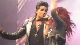 Adam Lambert & Allison Iraheta - Slow Ride- Dallas, TX 7/23/09