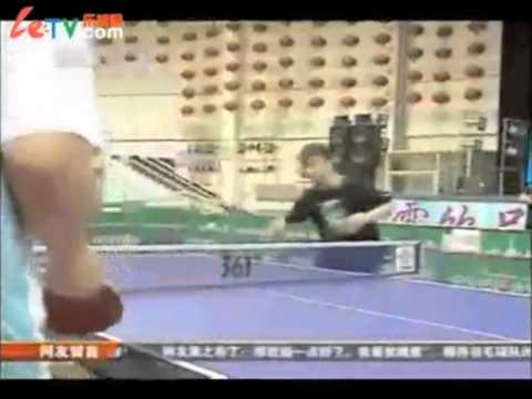 王皓訓練 前冲弧圈 (Wang Hao Training:Speeding Drive)