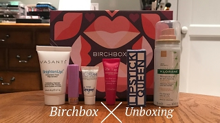my first birchbox unboxing february 2017